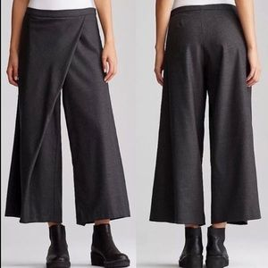 NWT Eileen Fisher Sarong Pant Heathered Flannel